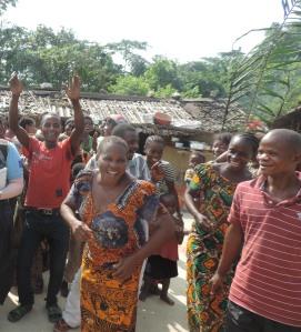 Kintolo dancing and singing community members 4