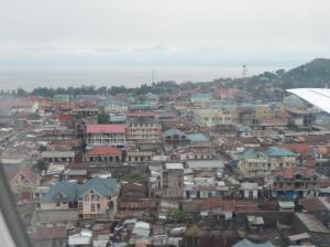 view of Goma from the air