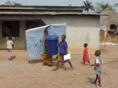 Visit to ebola survivor village heading home with some new belongings 2