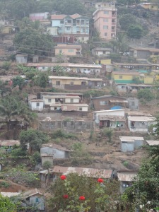Freetown view from the backyard of the hotel 1