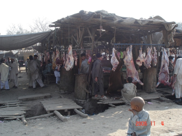 One of Jalalabads currrent butchers markets (2)