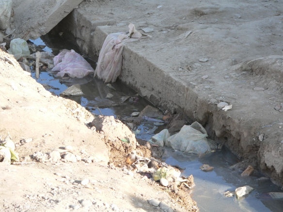 dirtty drain which UDG will also work n running along the market site